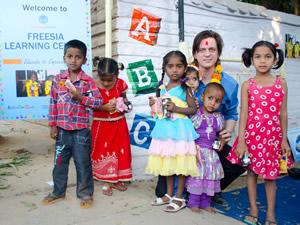 Celebrate Freesia New School Opening in India