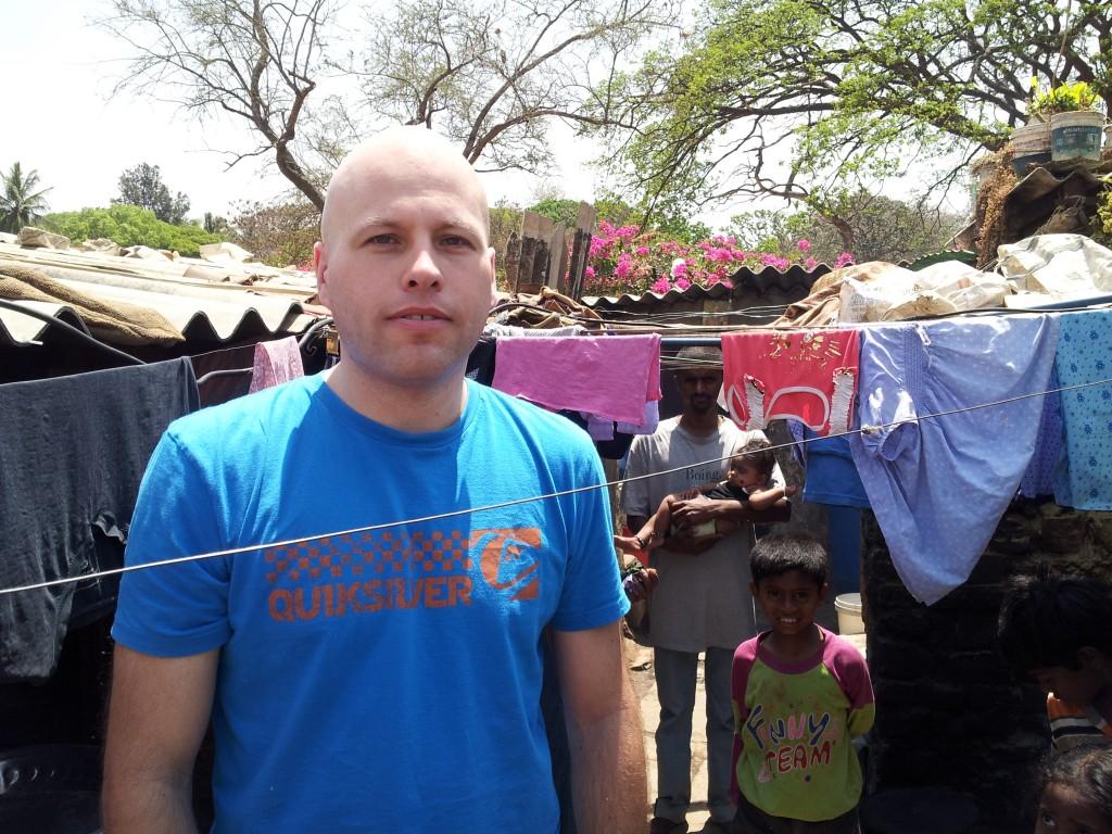 Visiting Doddigunda Slum to assess future ABC School children in that slum