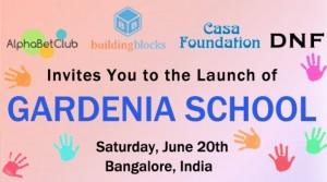 Opening of Gardenia School in Bangalore, India
